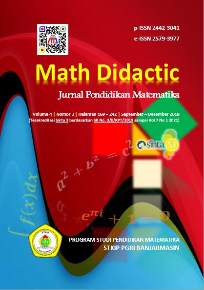 Math Didactic Volume 4 Nomor 3